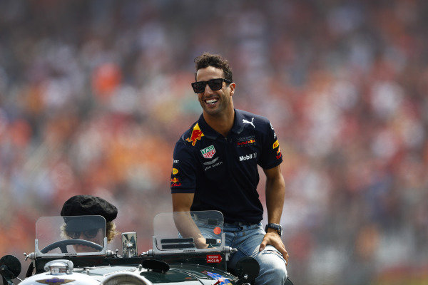 Daniel Ricciardo, Red Bull Racing, on the drivers' parade.