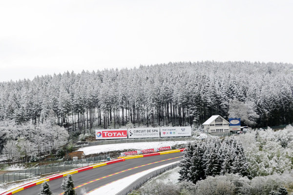 Snow at Spa-Francorchamps