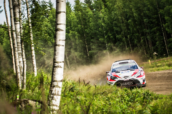 Jari-Matti Latvala (FIN) / Miikka Anttila (FIN), Toyota Gazoo Racing Toyota Yaris WRC at World Rally Championship, Rd9, Rally Finland, Day Two, Jyvaskyla, Finland, 29 July 2017.