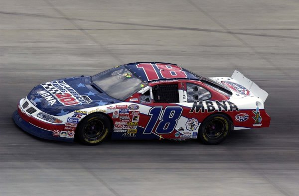 2002 NASCAR,Dover Downs,Sept 20-22, 20022002 NASCAR, Dover,Del . USA -Mike McLaughln at speed in the BGN race sponsor colors claimed 2cnd place,Copyright-Robt LeSieur2002LAT Photographic