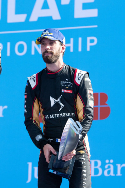Jean-Eric Vergne (FRA), DS Techeetah, 3rd position, on the podium
