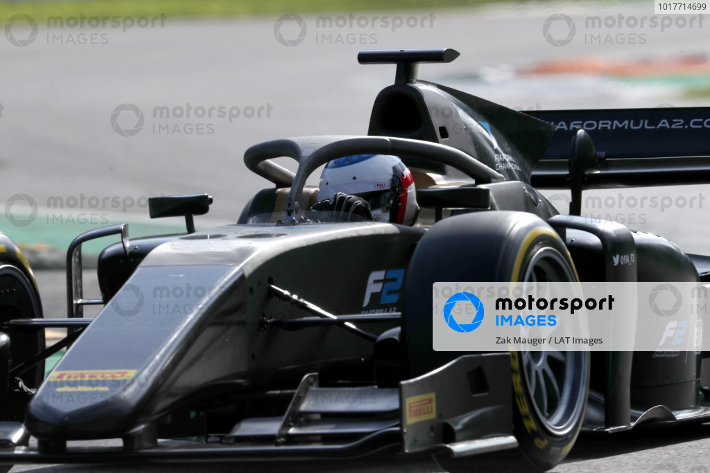 AUTODROMO NAZIONALE MONZA, ITALY - SEPTEMBER 07: Jean Alesi tests the new Pirelli 18 inch tyres for next seasons F2 Car during the Monza at Autodromo Nazionale Monza on September 07, 2019 in Autodromo Nazionale Monza, Italy. (Photo by Zak Mauger / LAT Images / FIA F2 Championship)