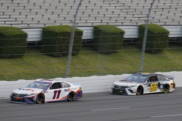 #11: Denny Hamlin, Joe Gibbs Racing, Toyota Camry FedEx Ground #66: Timmy Hill, Motorsports Business Management, Toyota Camry CRASHCLAIMSR.US