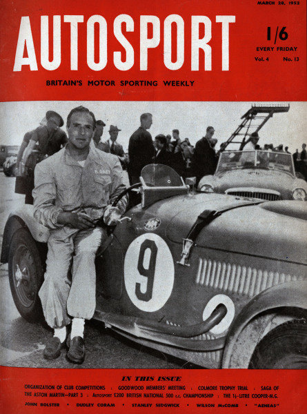 Cover of Autosport magazine, 28th March 1952