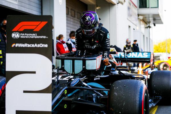 Lewis Hamilton, Mercedes-AMG Petronas F1 in Parc Ferme