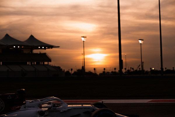 Antonio Giovinazzi, Alfa Romeo Sauber C37, at sunset.