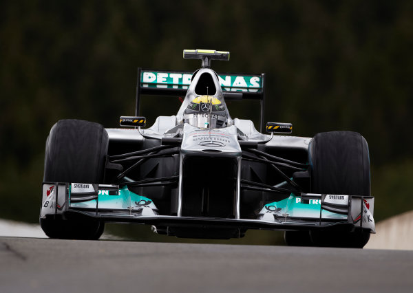 Spa-Francorchamps, Spa, Belgium 26th August 2011. Nico Rosberg, Mercedes GP W02. Action.  World Copyright: Steve Etherington/LAT Photographic ref: Digital Image SNE20727