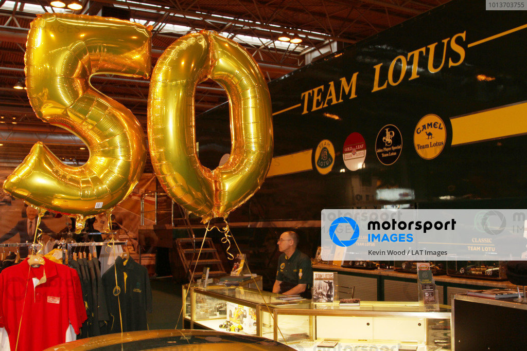 NEC, Birmingham. 12th - 15th January 2012. Classic Team Lotus. World Copyright: Kevin Wood/LAT Photographic ref: Digital Image IMG_9525a