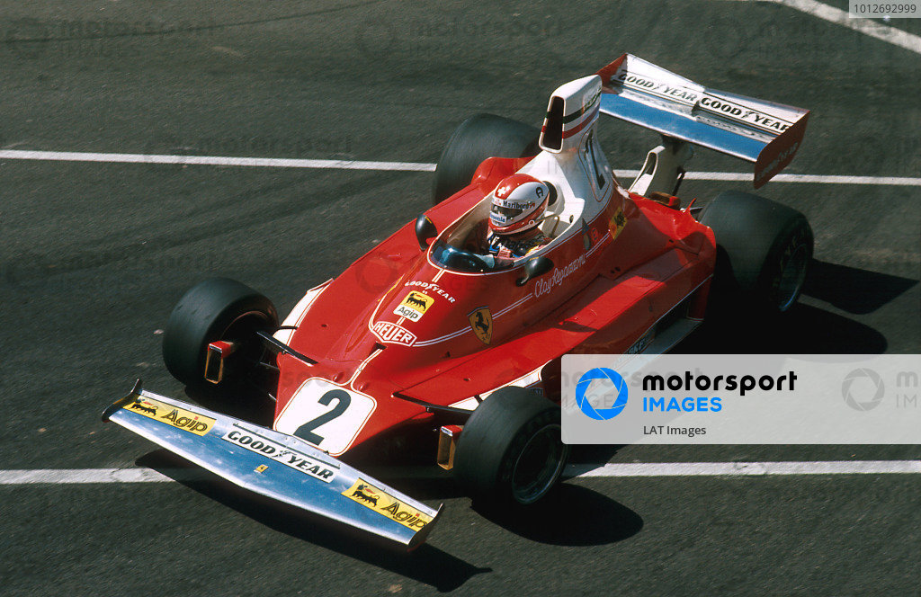 Long Beach, Calfornia, USA. 26-28 March 1976. Clay Regazzoni (Ferrari 312T) 1st position. Ref-76 LB 13. World Copyright - LAT Photographic