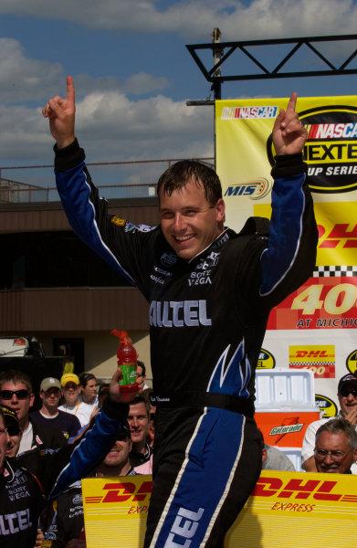 18-20 June, 2004, Michigan International Speedway, USA,Ryan Newman out of car,Copyright-Robt LeSieur 2004 USALAT Photographic