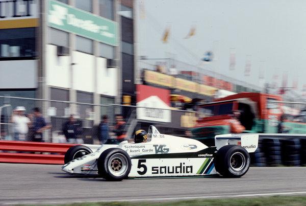 1982 Dutch Grand Prix.Zandvoort, Holland.1-3 July 1982.Derek Daly (Williams FW08 Ford) 5th position.Ref-82 HOL 75.World Copyright - LAT Photographic