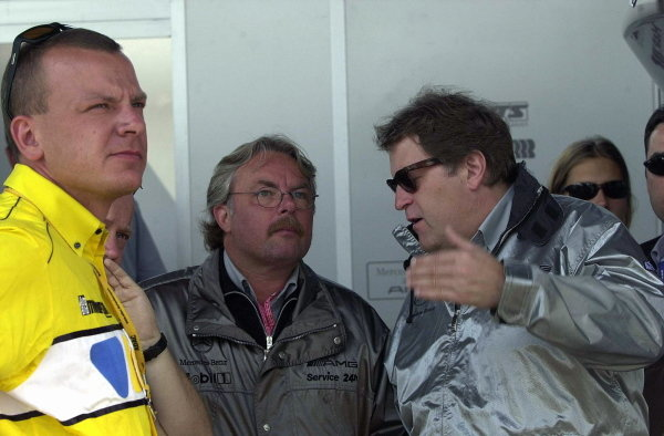Mercedes Sporting Director Norbert Haug (GER), right, chats to former Formula 1 World Champion Keke Rosberg (FIN).