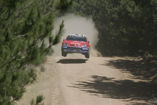 2005 FIA World Rally Champs. Round Sixteen, Rally Australia.10th - 13th November 2004.Francois Duval, Citroen, action.World Copyright: McKlein/LAT