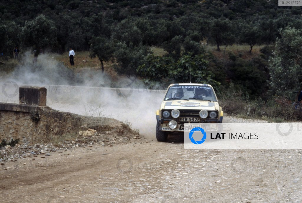 1979 World Rally Championship.Acropolis Rally, Greece. 28-31 May 1979.Bjorn Waldegaard/Hans Thorszelius (Ford Escort RS), 1st position.World Copyright: LAT PhotographicRef: 35mm transparency 79RALLY05