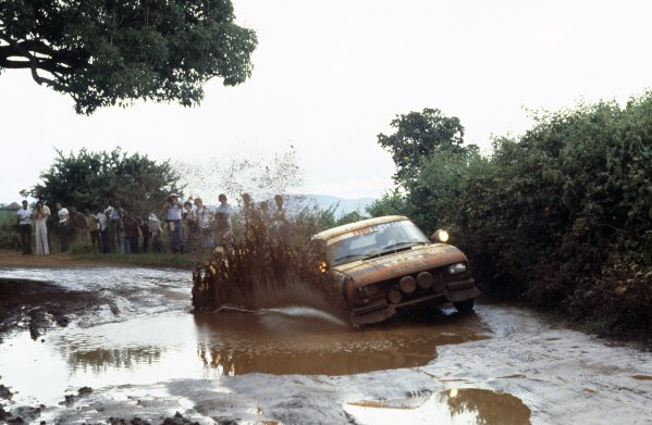 1978 World Rally Championship.Safari Rally, Kenya. 23-27 March 1978.Jean-Pierre Nicolas/Jean-Claude Lefebvre (Peugeot 504 V6 Coupe), 1st position.World Copyright: LAT PhotographicRef: 35mm transparency 78RALLY03