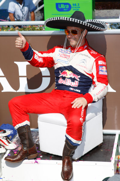 Round 03, Rally Mexico8th -11th March 2012Sebastien Loeb, Citroen, PodiumWorldwide Copyright: McKlein/LAT