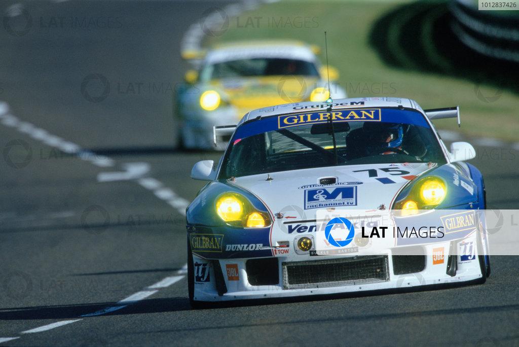 2004 Le Mans 24 HoursLe Mans, France. 12th - 13th June 2004.Khan/Neugarten/Smith (Thierry Perrier Porsche 911 GT3-RS) at the Porsche Curves. Action.World Copyright: Glenn Dunbar/LAT Photographicref: 35mm Transparency Image