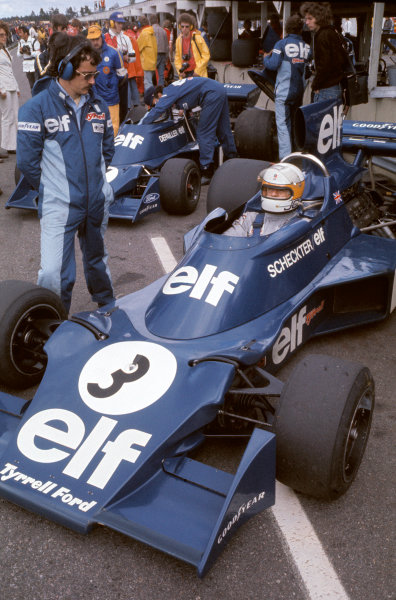 1974 Swedish Grand Prix.Anderstorp, Sweden. 7th - 9th June.Jody Scheckter (Tyrrell 007-Ford).World Copyright: LAT Photgraphic.ref: 35mm Transparency