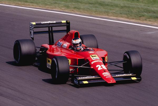 1989 Italian Grand Prix.Monza, Italy.8-10 September 1989.Gerhard Berger (Ferrari 640) 2nd position.Ref-89 ITA 17.World Copyright - LAT Photographic