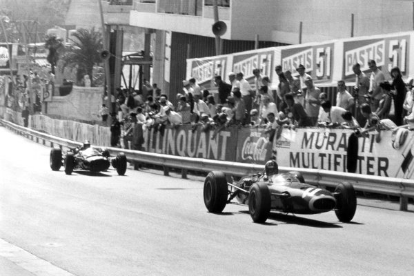 1966 Monaco Grand Prix.Monte Carlo, Monaco. 22 May 1966.Graham Hill, BRM P261, 3rd position, action.World Copyright: LAT PhotographicRef: Motor b&w print