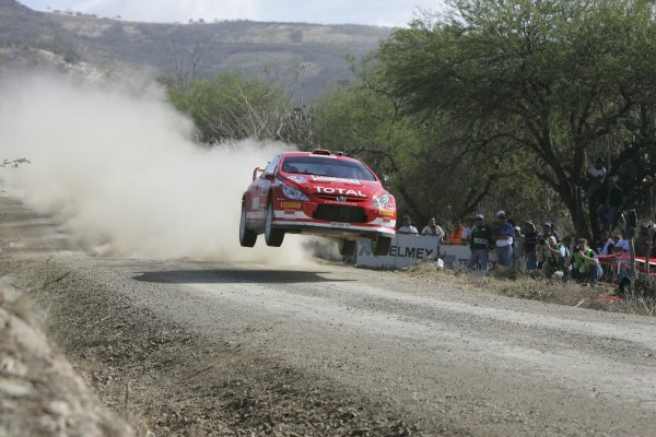 2005 FIA World Rally Championship Round 3, Mexico Rally. 10th - 13th March 2005. Markko Martin,(Peugeot 307 WRC), 3rd position, action. World Copyright: McKlein/LAT Photographic. ref: Digital Image Only.
