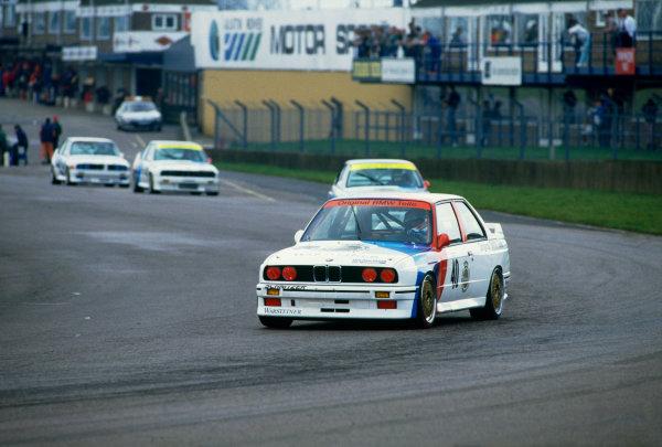 Donington Park, England. 5th April 1987.Ivan Capelli/Roberto Ravaglia/Roland Ratzenberger (BMW M3), 7th position, action.World Copyright: LAT Photographic.Ref:  Colour Transparency.