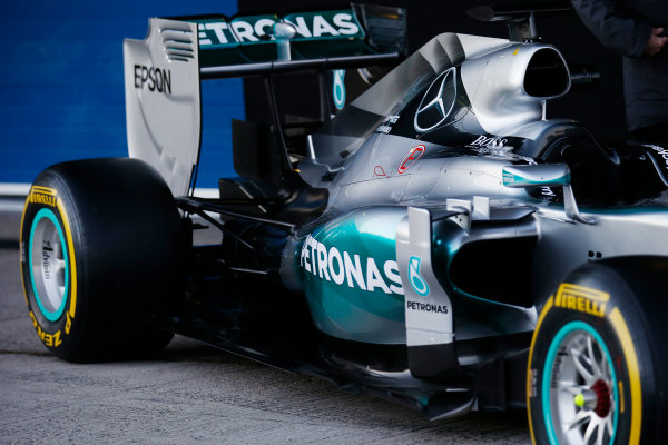 2015 F1 Pre Season Test 1 - Day 1 Circuito de Jerez, Jerez, Spain. Sunday 1 February 2015. Mercedes W06 Detail World Copyright: Steven Tee/LAT Photographic. ref: Digital Image _L4R9432