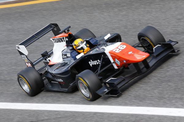 2014 GP3 Series Test 1. Estoril, Portugal.  Thursday 19 March 2015. Artur Janosz (POL, Trident)  Photo: Sam Bloxham/GP3 Series Media Service. ref: Digital Image _SBL0636