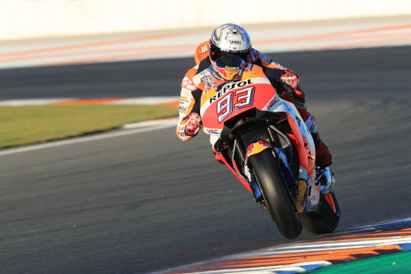 2017 MotoGP Championship - Valencia test, Spain. Tuesday 14 November 2017 Marc Marquez, Repsol Honda Team World Copyright: Gold and Goose / LAT Images ref: Digital Image MotoGP2017-ValenciaTest-Day1-1340