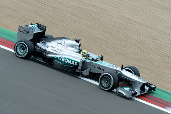 Nico Rosberg (GER) Mercedes AMG F1 W04. Formula One World Championship, Rd9, German Grand Prix, Practice, Nurburgring, Germany, Friday 5 July 2013.