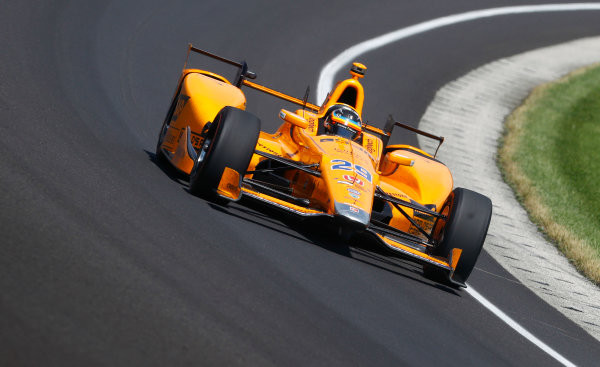 Verizon IndyCar Series Indianapolis 500 Carb Day Indianapolis Motor Speedway, Indianapolis, IN USA Friday 26 May 2017 Fernando Alonso, McLaren-Honda-Andretti Honda. World Copyright: Steven Tee/LAT Images ref: Digital Image _R3I6149