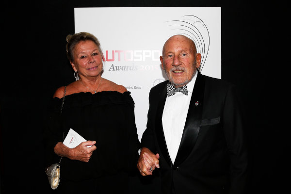 2015 Autosport Awards. Grosvenor House Hotel, Park Lane, London. Sunday 6 December 2015. Sir Stirling Moss. World Copyright: Adam Warner/LAT Photographic. ref: Digital Image _L5R8968