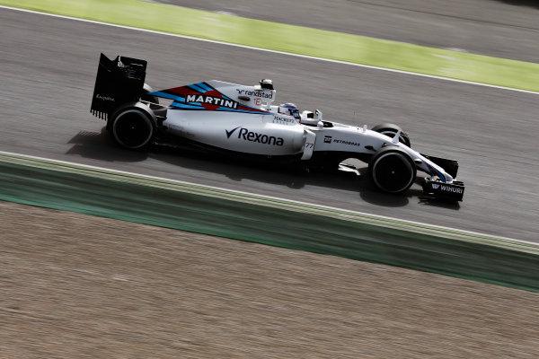 Circuit de Catalunya, Barcelona, Spain Monday 22 February 2016. Valtteri Bottas, Williams FW38 Mercedes. World Copyright: Alastair Staley/LAT Photographic ref: Digital Image _79P9677