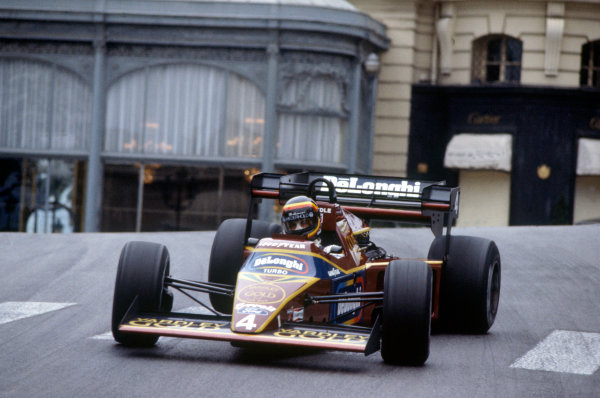 Monte Carlo, Monaco.31/5-3/6 1984.Stefan Bellof, Tyrrell 012-Ford, during practice at Casino. He would lose his position at the end of the season, after the Tyrrell team was disqualified from the World Championship due to fuel irregularities.Ref-84 MON 20.World Copyright - LAT Photographic