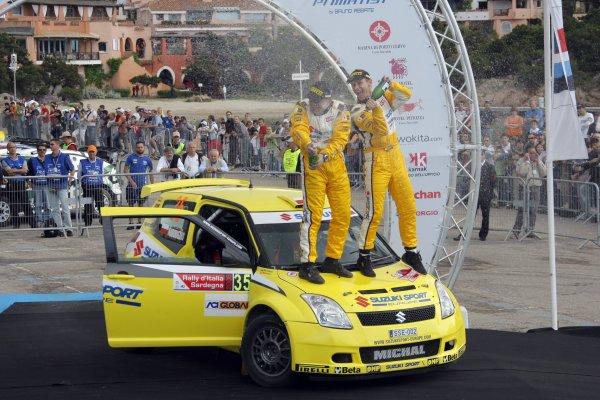 2008 FIA World Rally ChampionshipRound 06Rally d'Italia Sardegna 200815-18 of May 2008Michal Kosciuszko, Suzuki JWRC, Podium