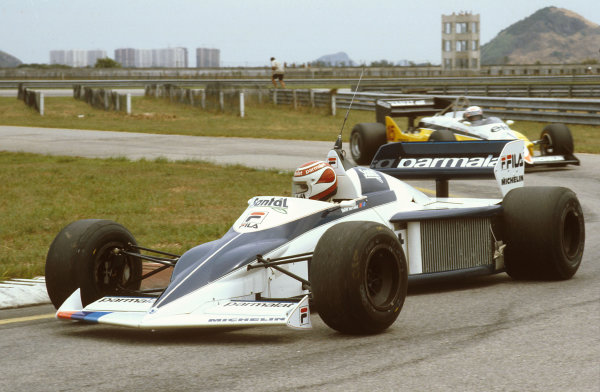 Rio de Janeiro, Brazil.11-13 March 1983.Nelson Piquet (Brabham BT52 BMW) 1st position.Ref-83 BRA 02.World Copyright - LAT Photographic