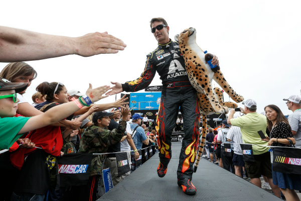 15-17 August, 2014, Brooklyn, Michigan USA Winner Jeff Gordon at driver introductions ©2014, Michael L. Levitt LAT Photo USA