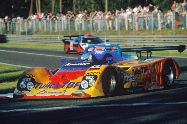 Le Mans, France. 14th - 15th June 1997.Giovanni Lavaggi/Bernard Chauvin/Jean-Luc Maury-Laribiere (Kremer K8 Porsche), DNQ, action. World Copyright: LAT Photographic.Ref:  97LM11.