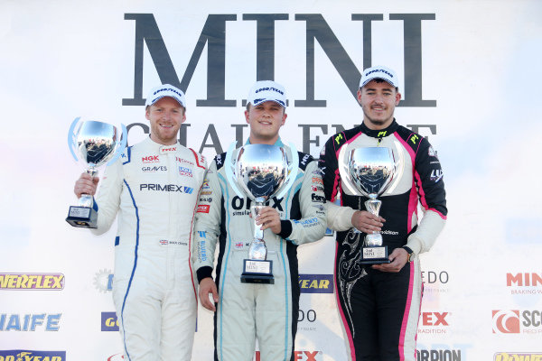 Max Coates - Graves Motorsport MINI - Max Bird - EXCELR8 Motorsport MINI - Jack Davidson - LUX Motorsport MINI