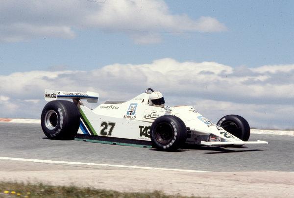 1979 Spanish Grand Prix.Jarama, Madrid, Spain.27-29 April 1979.Alan Jones (Williams FW07 Ford).Ref-79 ESP 05.World Copyright - LAT Photographic