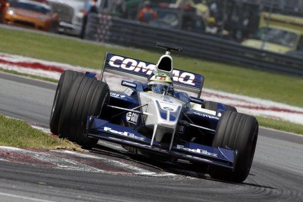 2002 Canadian Grand Prix - RaceMontreal, Canada. 9th June 2002Ralf Schumacher (Williams FW24-BMW).World Copyright: Steve Etherington/LATref: Digital Image Only