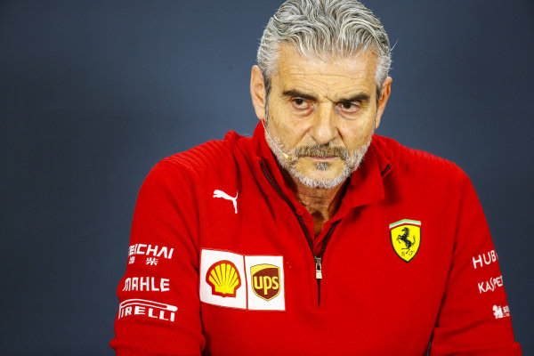 Maurizio Arrivabene, Team Principal, Ferrari, in the team principals Press Conference
