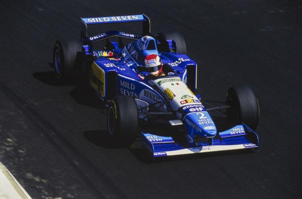 Johnny Herbert, Benetton B195 Renault.