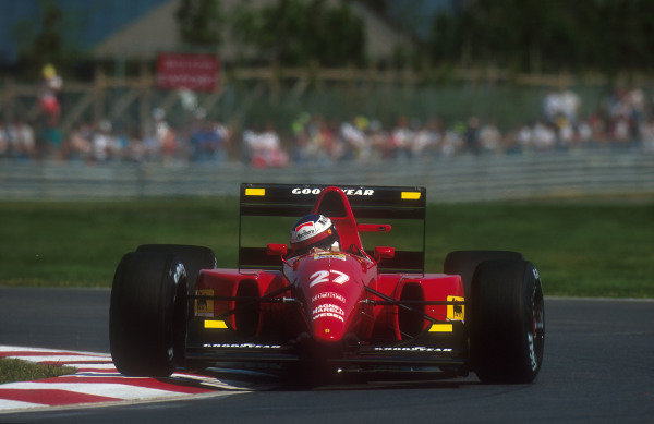 1992 Canadian Grand Prix.Montreal, Quebec, Canada.12-14 June 1992.Jean Alesi (Ferrari F92A) 3rd position.Ref-92 CAN 06.World Copyright - LAT Photographic