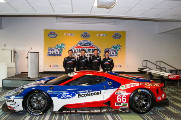 Chip Ganassi Racing Ford GTLM drivers for IMSA and Le Mans: Dirk Müller, Joey Hand, Richard Westbrook and Ryan Briscoe