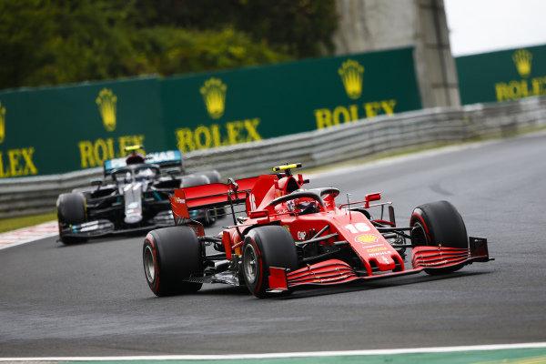 Charles Leclerc, Ferrari SF1000 and Valtteri Bottas, Mercedes F1 W11 EQ Performance