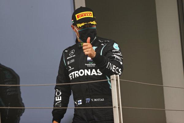 Valtteri Bottas, Mercedes-AMG Petronas F1, on the podium