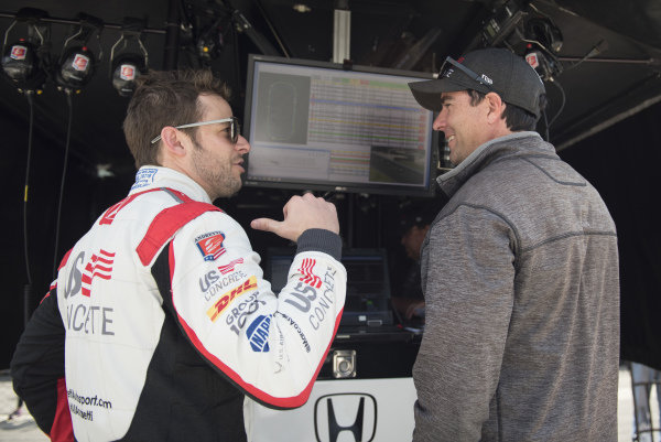 Marco Andretti, Andretti Herta with Marco & Curb-Agajanian Honda talks with Bryan Herta