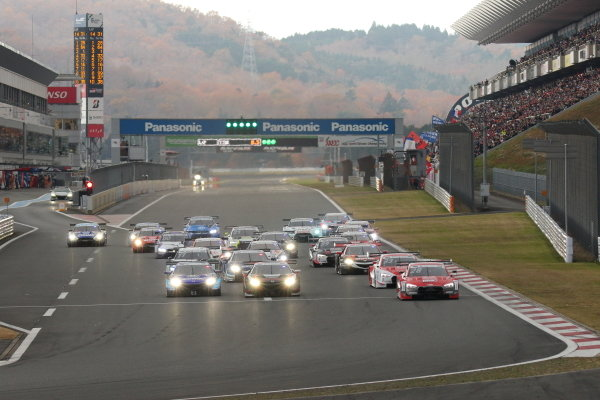 Super GT - DTM Dream Race. The start of race two
