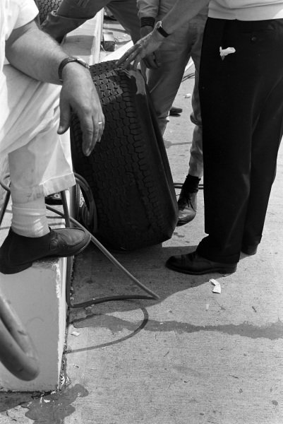 A blistered tyre.